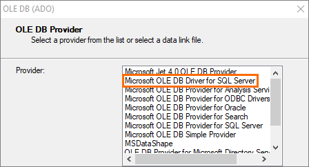 Report Connection to SQL Server