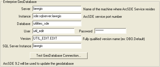 Connecting to an ArcSDE Geodatabase